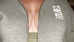 unzip top showing off tits