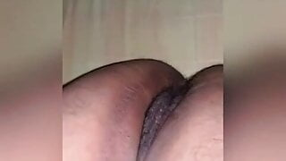 Fingering her juicy pussy