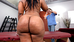 BBW Ebony Ms London Gets Fucked Hard After Massage