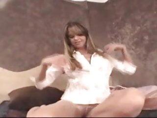 Lingerie strip tease - Ashton gray pantyhose strip tease
