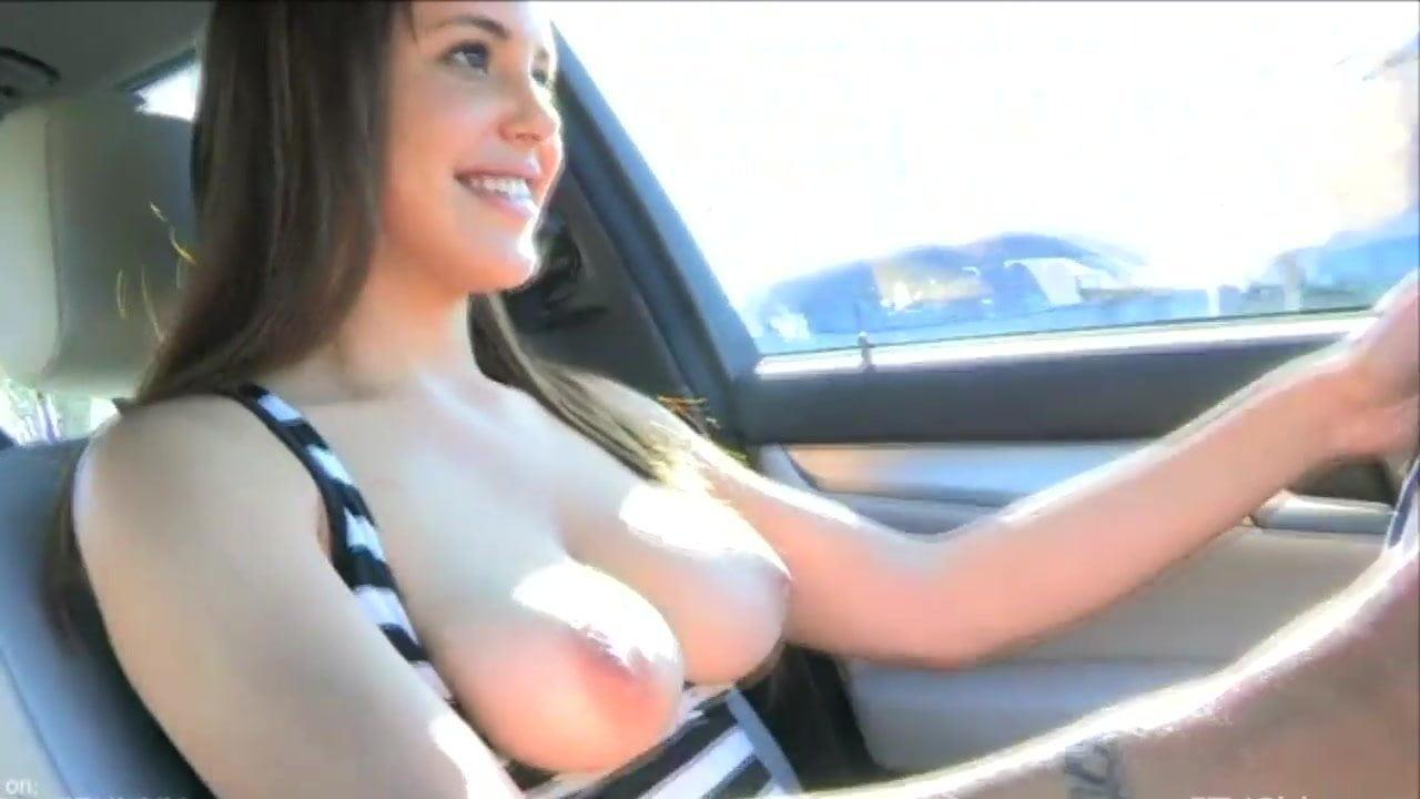 Giving Handjob While Driving