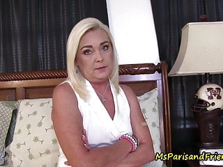 Vinyl panty fetish - Mommy-son and his panty fetish