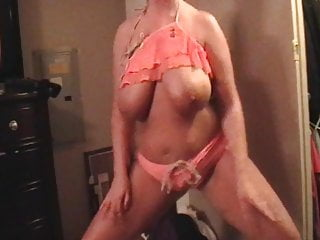 Natrual busty Ex-wife shaking belly huge natrual saggy tits cellulite pt 5
