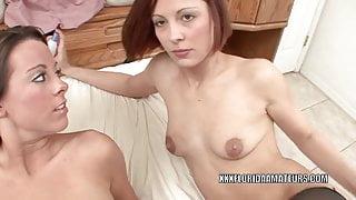 Swinging sluts Chaydin and Penelope Sky swap some dick