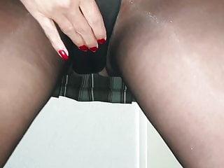 Pantyhose heels pictures Schoolgirl alysha, upskirt flashing in pantyhose heels