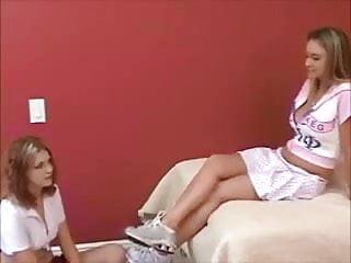 Son tricked sister xxx Sorority sister fake carmella tricks shy into footworship