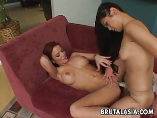 Pornstars fucks regular guy Asian and regular lesbo bitches fucking with a strap on