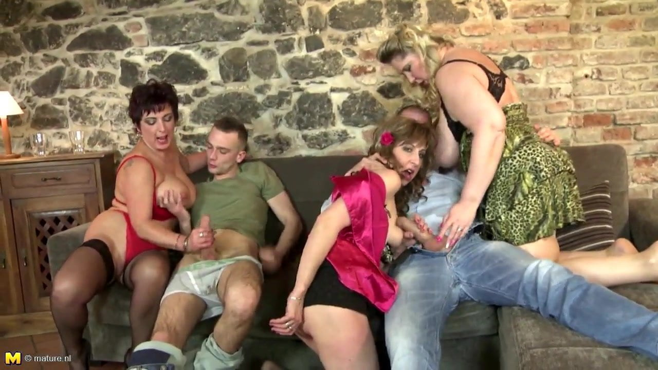 3 Matures And Boy Porn mature mothers fuck young boys like crazy
