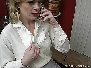 Sexy electricity talk Sexy mature babe talks dirty on the phone while wanking
