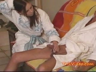 The mans cock Girlfrind caught sucking old mans cock
