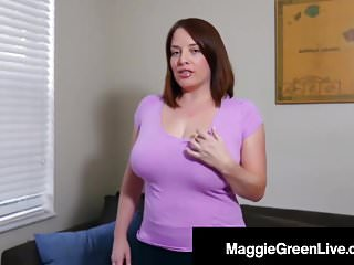 Foreplay boob fondling Natural boobed maggie green fondles pinches her huge tits