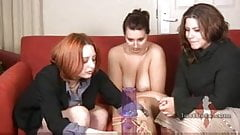 Naughty amateurs playing strip game