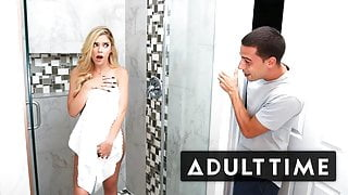 Caught Fapping - My StepBro Walked in on Me in the Shower!