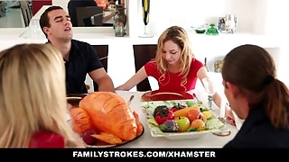 Step sister Sucks And Fucks NOT brother During Dinner