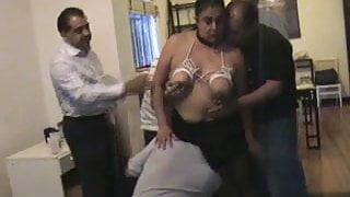 Gang bang for the vulgar slut I