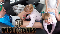 I'm horny when my stepbrother plays in the World of Tanks