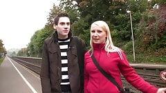 pick up german bitch on the street