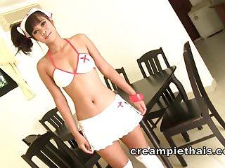 Hook ups bikini nurse - Thai teen nurse wants to play doctor with foreigners cock
