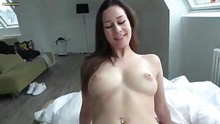 Romantic morning sex with creampie