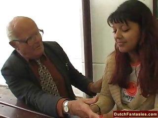 Mature old dutch women - Old man fucks cheerleader outdoors