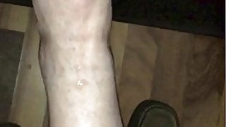 Cumshots On Wifes Legs Feet and Sexy Toes
