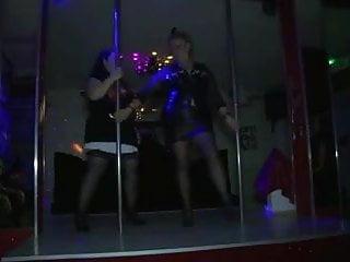 Foreign sex club 2 - 2 fat matures make a show into a club