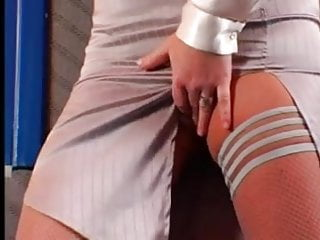 Small women getting double penetration - Women in white satin blouse gets gangbanged