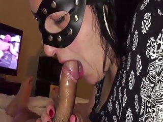The mask adult Cock blowing wife with the mask