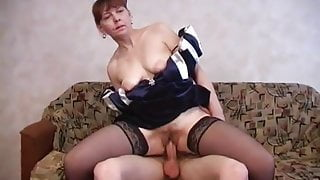 Russian Step Mom With Amazing Body Gets Fucked By Young Lover's Big Cock