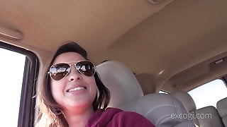 20yo curvy latina sofia is banged in mouth & gets doggystyle before creampie