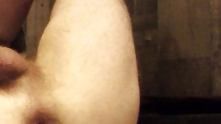 Ass destroyed by fat cucumber