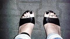 Cunhas de plataforma e anéis de dedo do pé