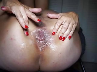 See cum in fleshlight Daddy loves to see cum whore prolapse like this