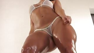 PAWG dances in Micro G-String for...