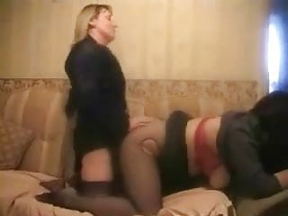 Girl girl fucking Girl-girl strapon fuck, with hairpulling