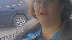Stephanie DeWolfe flashing tits in car