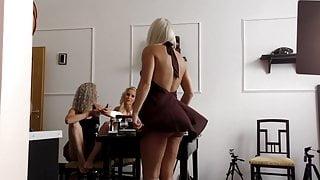 Flying Skirt Serenade, minutes of no panties upskirts - 4K