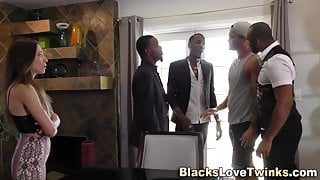 Dude gets gangbanged by bbcs
