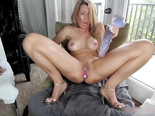 Wet bald pussy Butt plugged blonde milf fucking her wet bald pussy