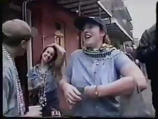 Men fucking plastic Mardi gras flasher showing tits for plastic fucking beads
