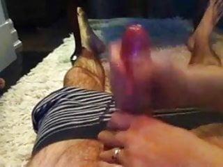 Fat wife giving handjob video Wife giving handjob.