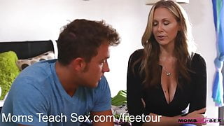 MomsTeachSex Young couple fucks hot older stepmom