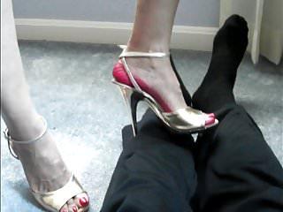 High heel cock and ball trample High heel trample