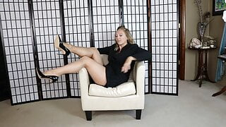 Bitta Von Sweet – Tan Stockings In Business Suit – try on video