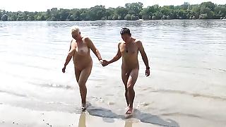 stepson fucks stepmom on public beach