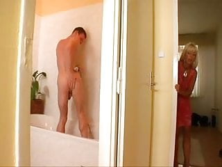 Gay guys eating ass free Blond milf eats young guys ass in bathtub