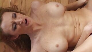 Slender cowgirl gets her asshole drilled with a big cock