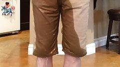 Peeing my Khaki Shorts