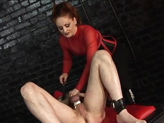 Guy puberty penis - Sexy dominatrix grips a guys penis