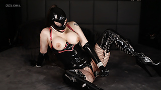 Wearing Latex and pegging my sub – Preview
